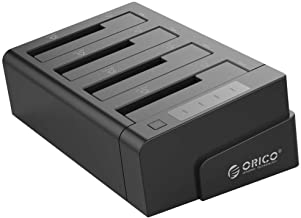 ORICO 4 Bay USB 3.0 SATA Hard Drive Docking Station Duplicator for 2.5 3.5 inch HDD -Black
