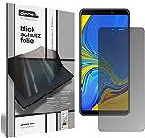 dipos I Blickschutzfolie matt kompatibel mit Samsung Galaxy A9 (2018) Sichtschutz-Folie Bildschirm-Schutzfolie Privacy-Filter