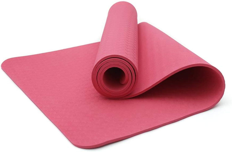 AJZGF Yogamatte Anfnger Fitnessmatte Trainingsmatte Anti-Rutsch-Matte 173  61  0.8cm Tanz-Fitnessmatte