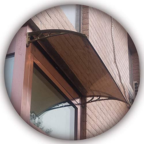 Marquesina Toldo, Parasol Diseño Moderno para Patio, Parasol Bloqueador Lluvia, Resistente A Golpes, Tablero Marrón PENGFEI (Color : A, Size : 60cmx300cm)