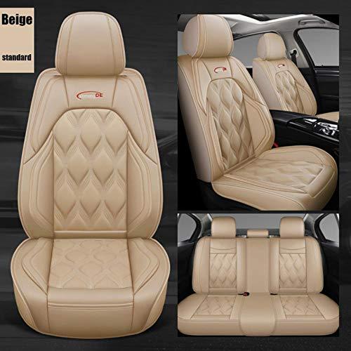 DSGHH Fundas Asientos Coche Universales para Mercedes Benz Todos los Modelos A160 180 B200 C200 C300 Clase E Gla Gle S600 Gls Glc, Estándar Beige