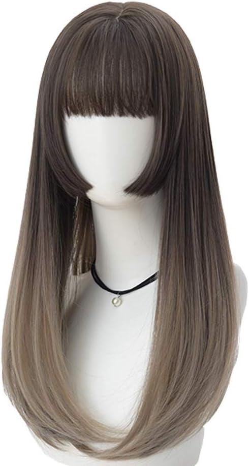 wig ZLZ Female Medium Length Cute Fresno Mall and Japanese Realistic Super Special SALE held Korean