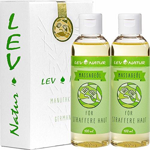Massageöl für straffere Haut (2 x 100ml) Naturprodukt nur Hochwertige Öle Sparpaket