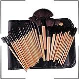 QIEZI Mejor Maquillaje cepillos Higiene Kit de Cepillo cosmético del Maquillaje de Ojos Cepillo 32 en 1 Cepillo del Maquillaje Herramientas (Color : Negro)