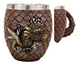 """Ebros Medieval Khaleesi's Elemental Dragon Colorful Scale Egg With Hatching Wyrmling Small Coffee Tea Mug Cup 3.75"""" High Fantasy GOT Themed Dungeons And Dragons Drinking Cups (Fire Red)"""