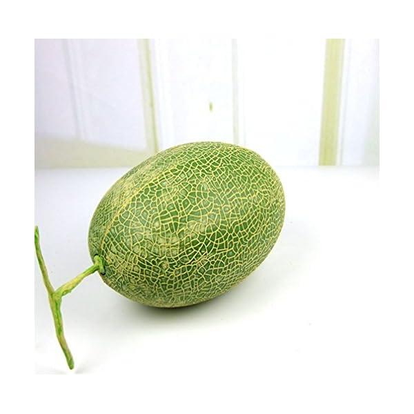 Skyseen 1Pcs Artificial Lifelike Hami Melon Simulation Honey Melon Fake Fruit for Home Decoration,B