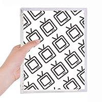テレビはシールパターンを監視する 硬質プラスチックルーズリーフノートノート