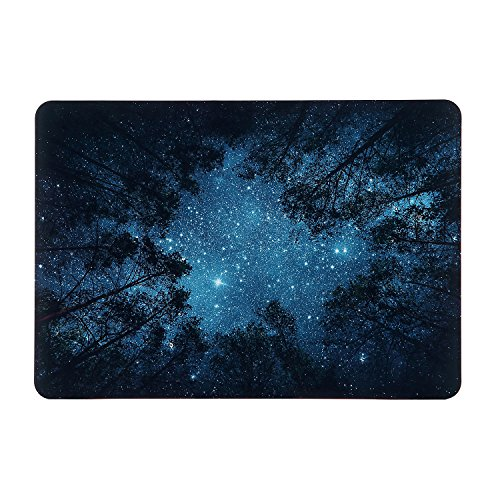 iDonzon MacBook Pro 15 inch Case 2016-2019 Release A1990/A1707, Soft-Touch Matte Plastic Hard Protective Case Cover Compatible Newest Mac Pro 15 inch with Touch Bar & Touch ID - Forest Starry