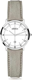 Michel Herbelin   City Quartz   Womens   Beige Leather Strap   White Dial   16915/12LKN