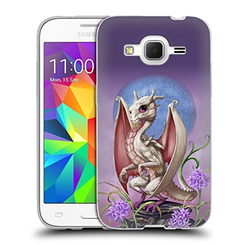 Head Case Designs Officially Licensed Stanley Morrison White Garlic Garden Dragons 2 Soft Gel Case Compatible with Samsung Galaxy Core Prime