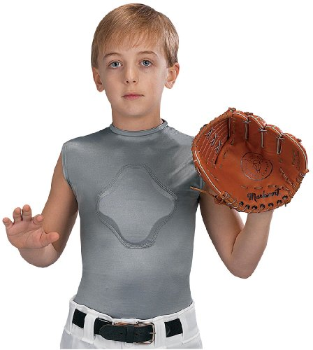 Markwort Youth Heart-Gard Protective Body Shirt, Grey, Youth Small