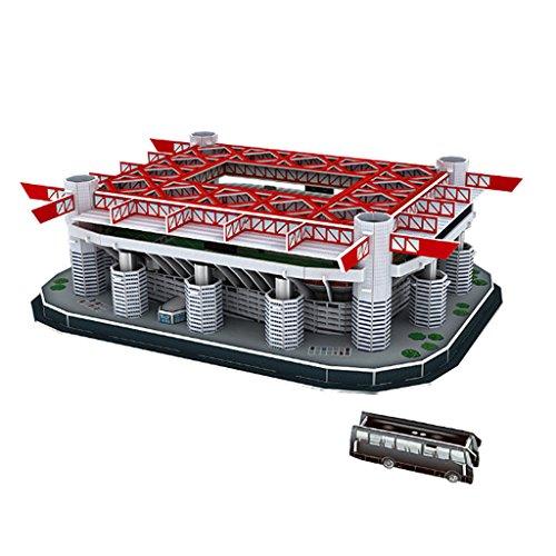 IPOTCH Barnabas Football Field Model Puzzle Artistico Auto Assemblato - San Siro