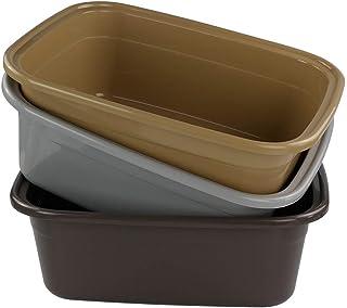 Idomy 3-Pack Plastic Dish Pan, 16 Quart Wash Basin