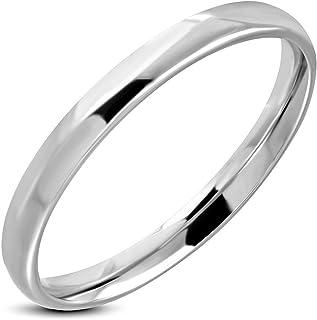 Bague homme en acier argenté brillant forme d/'anneau ZR0136 Zense Taille 58