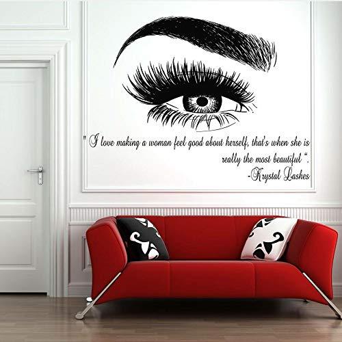 Wimpern Wimpern Augenbrauen Brauen Beauty Salon Dekor Wandtattoo Aufkleber Augen Zitat Make-up Mode Aufkleber abnehmbar