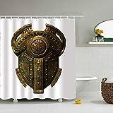 Elaine-Shop Cortina de Ducha Ares Shield, Cortina de Ducha de poliéster de baño Colorida Impermeable para duchas de bañera, 150cm * 180cm