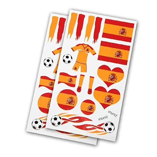5 Hojas 2018 Copa Del Mundo España País Etiqueta De Tatuaje Para Los Aficionados Animando Utilidades Prácticas Herramienta