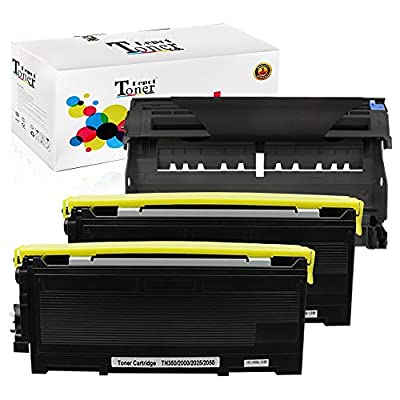 1 PACK/2 PACK/4 PACK/10 PACK Compatible with Brother TN350 Toner Cartridge; Black Drum Unit for Brother DR350; 2 Toner + 1 Drum