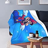 Super Mario Blanket for Adults and Children, Heated Bed Throws with Ultra-Soft Micro Fleece (Black).