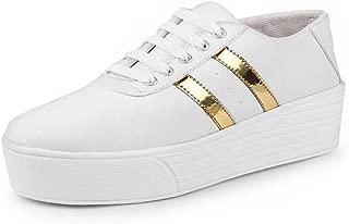 Bersache Women White-993 Casual Sneakers Shoes