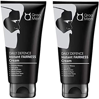 Qraa Daily Defence Instant Fairness Cream For Men For Anti-Ageing/Dark Spot Removal/Spf 15 Protection, 30 g (Pack Of 2)