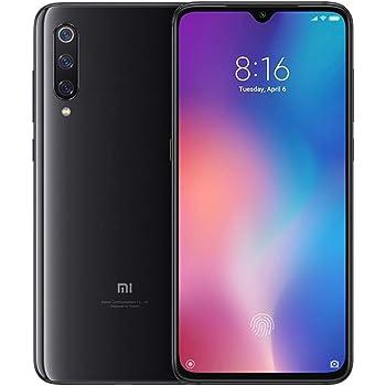 Xiaomi MI 9 Smartphone Android, Schermo 1080 x 2340 pixel da 6.39 pollici, RAM 6 GB, ROM 64 GB, Fotocamera posteriore con sensore da 48 Mp + 12 Mp + 16 Mp, Nero