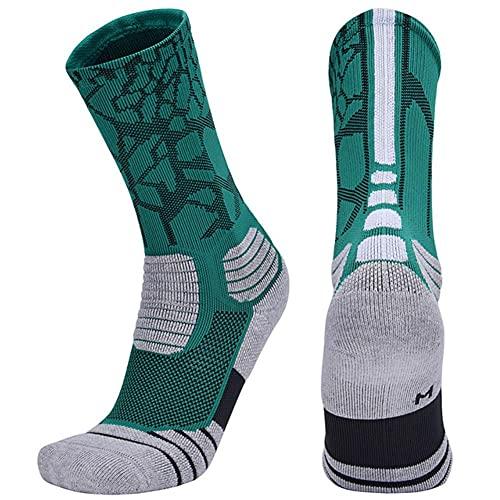 Calcetines Fútbol Ciclismo Baloncesto Fútbol Socker Calcetines para Hombre Calzado Ski Skateboard Cesta Corriendo Calcetines Deportivos Compresión De Algodón-02,EU 39-42 US 7-8.5
