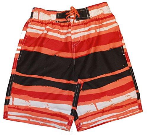 etirel kinderen zwemshorts Beach Short Lanzo oranje zwart