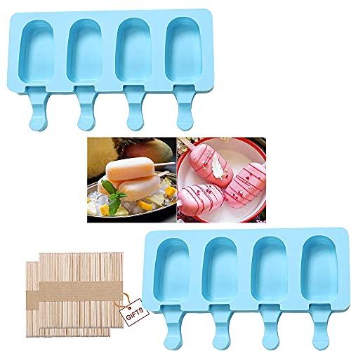Reutilizable Mini Moldes de Congelador,Moldes para Paletas Silicona,Moldes de helado,Moldes para hacer helados,Moldes para Helados de Silicona.
