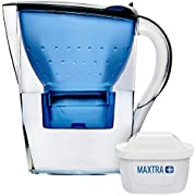 BRITA Blue 2.4L Water Filter Jug - Marella with: in-Built LED Electronic Indicator & MAXTRA+ Filter Cartridge