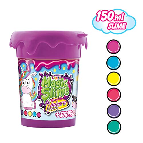 CRAZE 15513 Unicorn Magic Slime Kinderschleim Schleim für Kinderzimmer Kinderparty, rosa pink