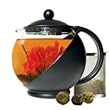 Primula Half Moon Teapot with Removable Blooming and Loose Leaf Tea Maker Set, Stainless Steel...
