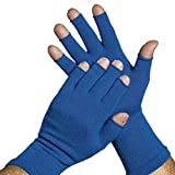 Limbkeepers Non-Compression Protective Gloves - 3/4' Finger (Medium, Royal Blue)