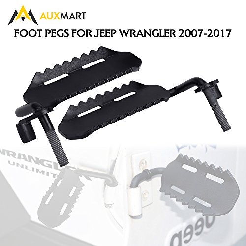 AUXMART Foot Pegs Replacement for Jeep Wrangler 2007-2017 (Pack of 2)