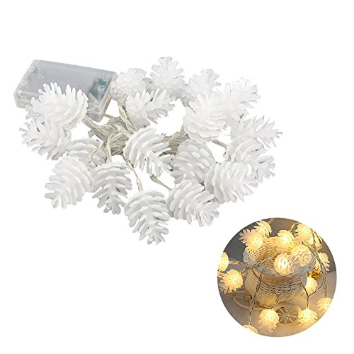 TOYMYTOY 2.2M 20 LED Simulated Pinecone String Lights Pine Cone Lamp...