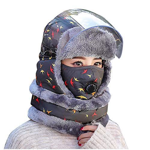 MINIKIMI Unisex WintermüTze Verstellbares Warmes Und Winddichtes Kappenset FüR Skifahren, Schlittschuhlaufen Und Andere Outdoor-AktivitäTen (J 10, Einheitsgröße)