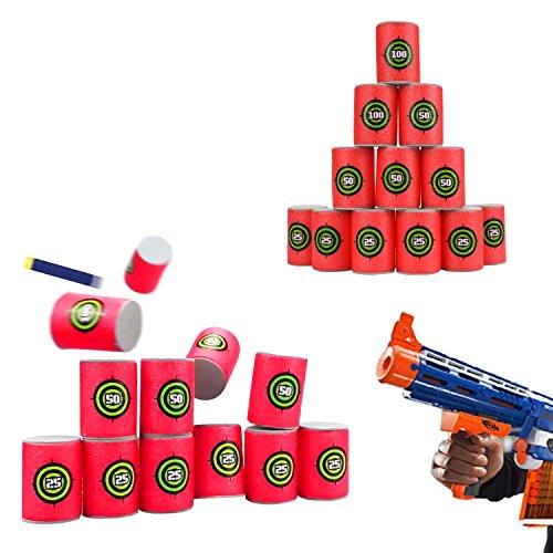 UWANTME EVA Soft Bullet Target for NERF N-Strike Blasters Pack of 12pcs