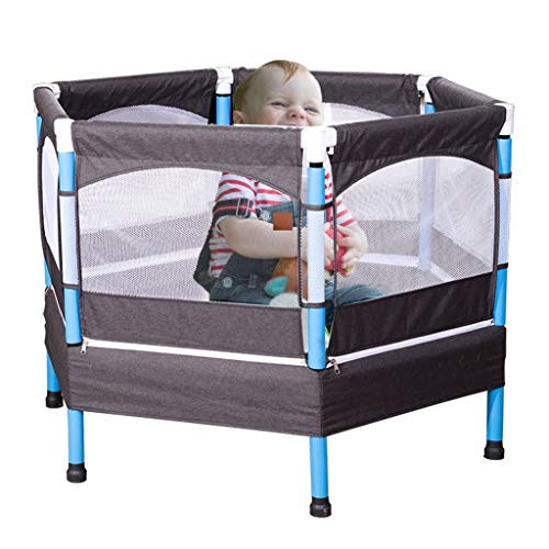 LXXTI Trampolines for Children Outdoor, Ultra Quiet Mini Baby Trampoline with Safety Enclosure Net And All Accessoriestrampoline, for Kids Outdoor
