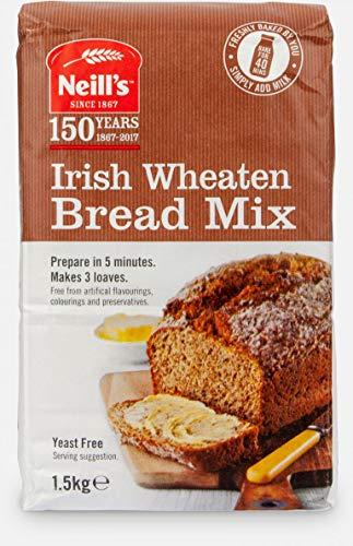 Neill's Flour Irish Wheaten Bread Mix 1.5 kg Makes 3 Loaves Yeast Free