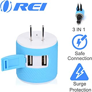 Orei Japan, Philippines Travel Plug Adapter- USA Inputs - Type A (U2U-6), Will work with Cell Phones, Camera, Laptop, Tablets, iPad, iPhone and More
