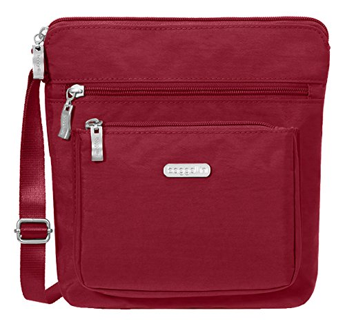 Baggallini Women's Pocket Crossbody, Apple