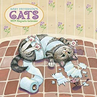 Gary Patterson's Cats Magnetic Mount Wall Calendar 2019