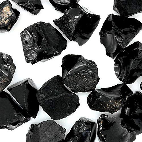 TOMMY LAMBERT - Obsidiana de Piedra Natural de obsidiana Negra triturada con Forma Irregular, Piedra...