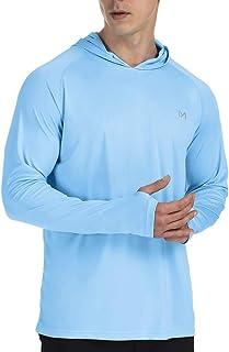 MEETYOO Men's Rash Guard, UPF 50+ Long Sleeve Shirt Rash Vest UV Sun Protection Top Swimming T Shirt for Running Surfing H...