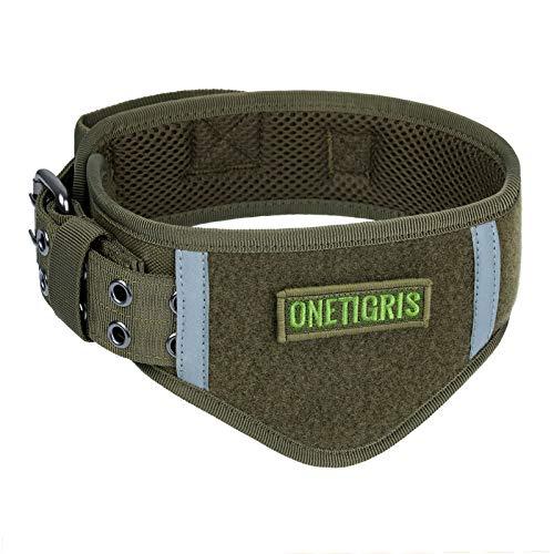 OneTigris Verstellbare Hundehalsband Weiches Hundehalsband für Hunde |MEHRWEG Verpackung (XL, Ranger Grün)