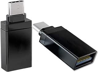 USB Type C to USB 3.0変換アダプタusb type c 変換 Type cコネクタ usb-c 変換 typec 変換アダプタ タイプc 変換 usb メモリ usb type c ケーブルUSB C to USB 3.1 OTG機能対応アルミニウム合金製 高速データ転送 MacBook Pro2016/2017 Sony Xperia XZ/XZ2 Samsung Galaxy Dell XPS 13/15対応 10000回抜き差しテスト(2個セット、Ankola 12ヶ月保証付き、ブラック )