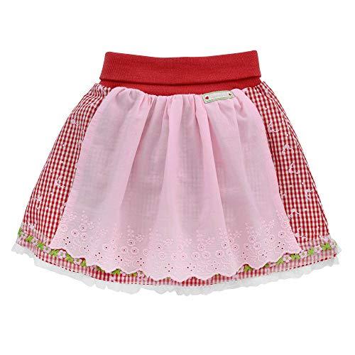 Baby-Trachtenrock aus Baumwolle Gr. 116 I Schöner Mädchen-Rock in Rot-Weiß I Karierte Trachtenmode I Röckchen aus Webware I Wunderschöne & Bequeme Kinderbekleidung