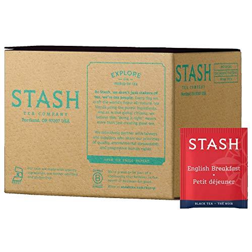 Stash Tea English Breakfast Black Tea 100 Count Box of Tea Bags in Foil
