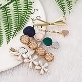 Litthing Mollette per Capelli Perle Decorativo Fermaglio Acrilica Barrettes Macaron Artificiali in Resina Perla Clip Eleganti Antiscivolo Leopardo Glitter Forcina Accessori per Donna Colori (5Pcs)
