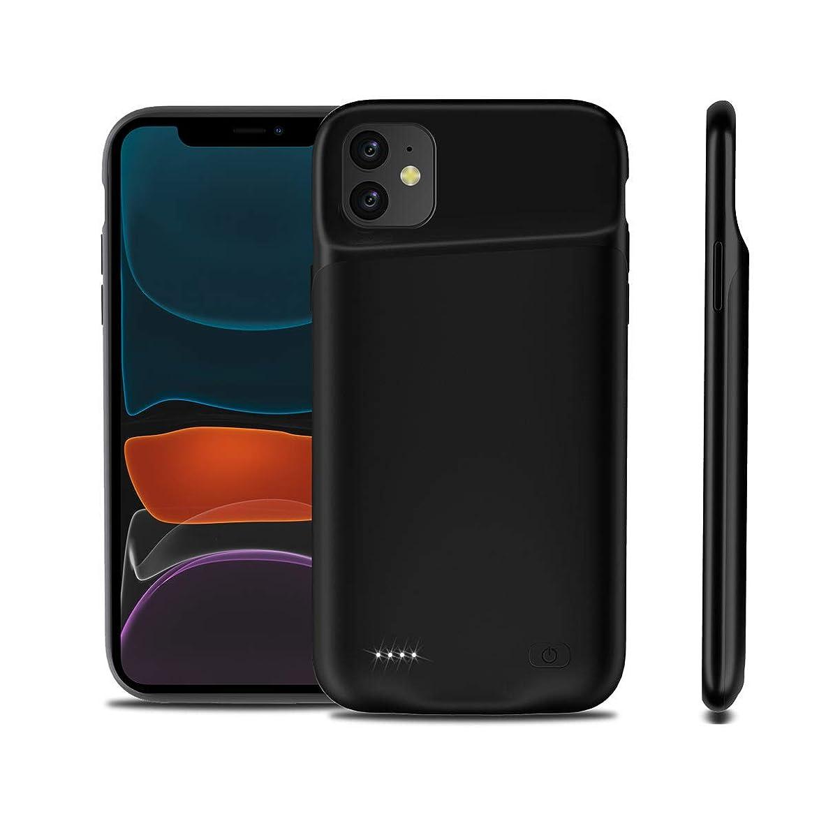 ナンセンス整然とした熱狂的なWarebaバッテリー内蔵ケース 大容量 iPhone 11 6.1 Inch 6000mAh専用 バッテリーケース 軽量 超薄 急速充電 超便利 耐衝撃 ケース型バッテリー 携帯充電器 モバイルバッテリー容量追加battery case